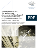 "World  Economic Forum, ""From the Margins to the Main Stream"", Sep 19, 2013."