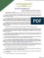 01 - Lei 9883-1999 - Institui o SBI e Cria a ABIN