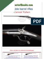 Double Barrel Rifles Current Values