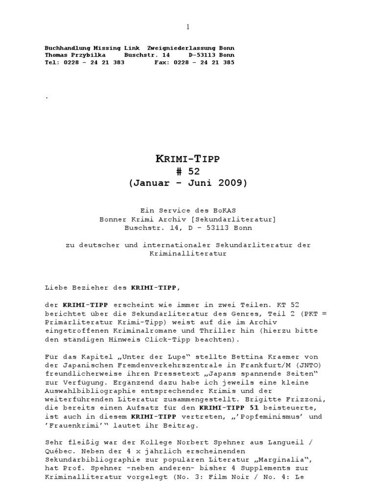 Krimi-Tipp 52