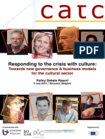ENCATC Responding to the Crisis With Culture Policy Debate Report 2013