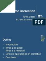 Error Correction