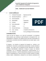 Silabus de Teora de Flujo de Transito-2013-Iia