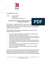 2013 Higher Ed Fairness Media Release