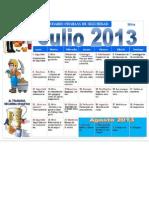 Calendario y Charlas de Mina Julio 2013