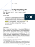 Chang - Institutionalist Political Economy