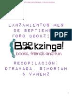 Bookzinga - Lanzamientos Septiembre
