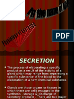 Physiology of Secretion