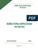 Apresentação  Decibeis, Filtros e Grafico de Bode