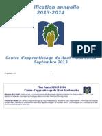 Plan Annuel 2013-2014