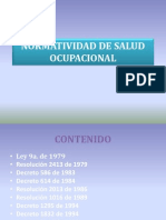 Normatividad de Salud Ocupacional