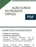 AVALIAÇÃO CLÍNICA DO PACIENTE CRÍTICO