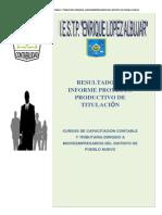 Informe Final Ejecutado Del Proyecto de Titulacion