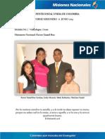 Informe Misionero a Junio 2013 - Valledupar, Cesar - Distrito 7