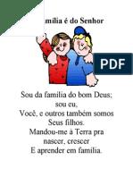 A Família é do Senhor