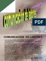 Comunicacion de Labores