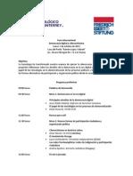Programa del Foro y Taller Democracia Digital y Ciberactivismo 7 octubre