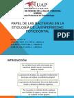 papel de las bacterias en la etiología de
