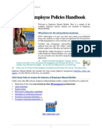 Sample Employee Policies Manual 2011