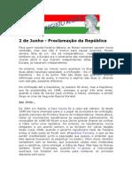 2 de Junho - Proclamação da República