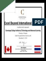 conestoga college - ebia agent certificates 2013 to 2014