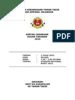 Kertas Kerja Perbelanjaan Sukan Tahunan 2013-2
