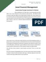 FDI analysis of Canon Vietnam