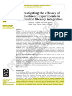 Investigating the Efficacy of Embedment-- Experiments in Information Literacy Integration