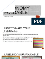 Taxonomy Foldable PPT
