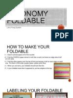 Taxonomy Foldable PPT