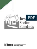 Toronto Shelter Standards