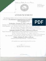 Notice, BPSU, Annual General Meeting