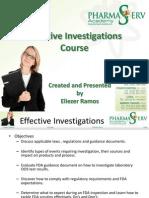 Presentation #1 - Effective Investigations