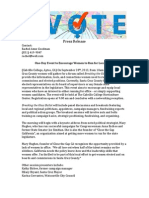 Breaking the Glass Ballot Press Release