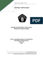 Pedoman Penulisan Pmw-ub 2013 New