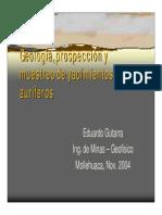 Geologia y Prospeccion Minera