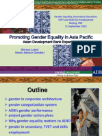 ADB's Gender Strategies and Approaches