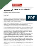Amim, Samir Transnational Capitalism or Collective Imperialism by Samir Amin