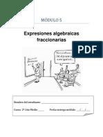 Modulo Expresiones Algebraicas Fraccionarias