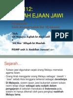 Present_sejarah Ejaan Jawi