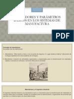 Indicadores y parámetros básicos en los sistemas de manufactur