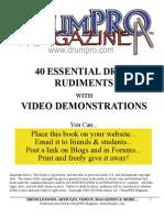 40 International Rudiments