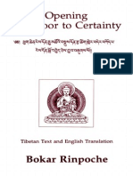 Bokar Rinpoche. Opening the Door to Certainty
