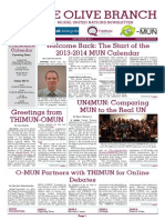 Olive Branch Middle East Model United Nations Newsletter - September 2013