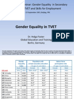Gender Equality in TVET