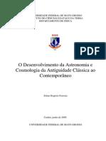 O Desenvolvimento da Astronomia e Cosmologia da Antiguidade Clássica ao Contemporâneo
