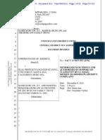 SACV 13-0615 - Forfeiture - Medical Marijuana - 1638 E. 17th Street (Burcaw) - Memorandum in Support of Claimants' Motion to Dismiss