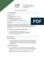 Comercio Internacional - Syllabus - 2010-1