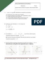 Ficha de Trabalho-Sistemas de Equações- 9º ano