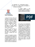 La Gerencia de Mercadeo y La Generación de Nuevos Productos y Servicios frente a la Actual escases de Productos y Servicios en Venezuela